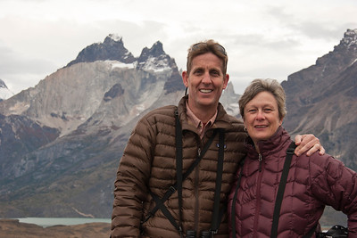 Steve and me in front of Lago Grey in Torres del Pain National Park, Chile.